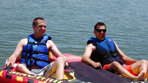 Tubing on Lake Ray Hubbard